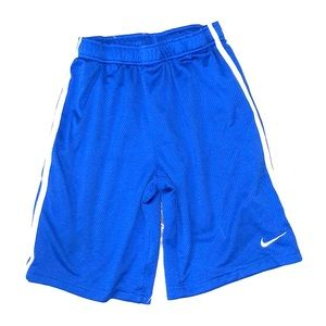 Nike boys large jersey blue basketball shorts